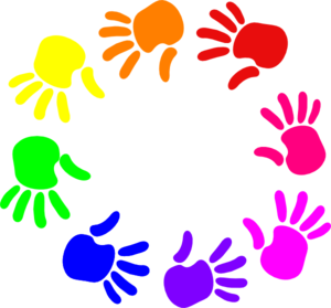 colorful circle of hands picture